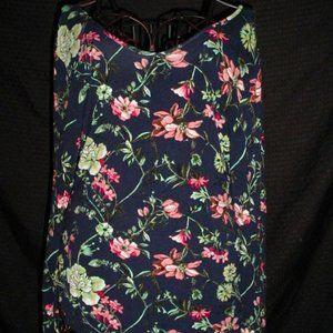 LIBERTY LOVE Strappy VBack Floral Blouse XL